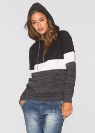 Sweatshirt in Color-Blocking-Streifen, RAINBOW, schwarz meliert