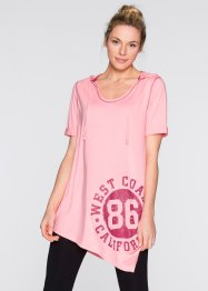 Longshirt, bpc bonprix collection, neonrosa meliert