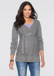 Umstandsstrickjacke, bpc bonprix collection, grau meliert
