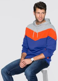 Sweatshirt mit Kapuze Regular Fit, bpc bonprix collection, hellgrau meliert/orange/lila