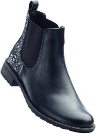 Stiefelette, bpc bonprix collection, schwarz glitzer