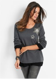 Sweatshirt, bpc selection, anthrazit meliert