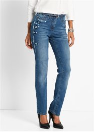 Stretchjeans mit Stickerei, bpc selection, blue stone