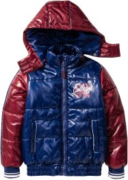Winterjacke, bpc bonprix collection, mitternachtsblau/bordeaux