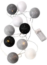 "LED-Lichterkette ""Cotton Balls"" grau, bpc living, grau/creme"