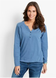 Langarm-Shirt, bpc bonprix collection, jeansblau