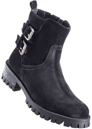 Lederstiefelette, bpc bonprix collection, schwarz