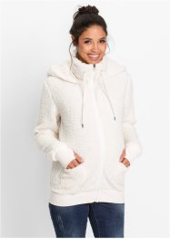 Umstandsjacke aus Teddy-Fleece, bpc bonprix collection, wollweiß