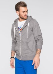 Sweatjacke im Slim Fit, RAINBOW, grau meliert