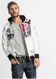 Sweatjacke Slim Fit, RAINBOW, rot