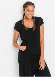 Stretch-Longshirt, bpc bonprix collection, schwarz