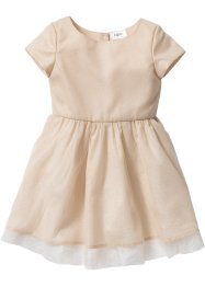 Glitzerkleid, bpc bonprix collection, sandbeige/gold