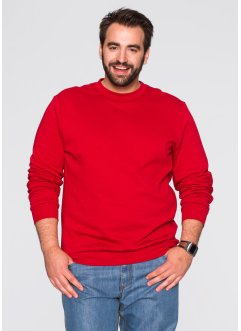 Herren Sweatshirt, Regular Fit, bpc bonprix collection, erdbeere