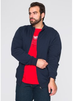 Sweatjacke, Regular Fit, bpc bonprix collection, dunkelblau