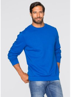Herren Sweatshirt, Regular Fit, bpc bonprix collection, azurblau