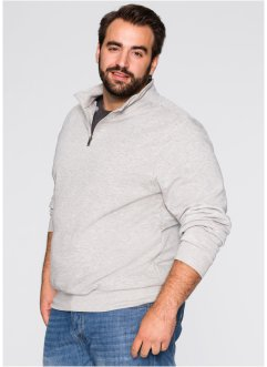 Herren Sweatshirt, Regular Fit, bpc bonprix collection, graumeliert