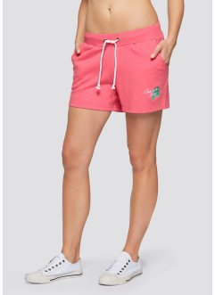 Sweat-Shorts (2er-Pack), bpc bonprix collection, hellpink/anthazit meliert