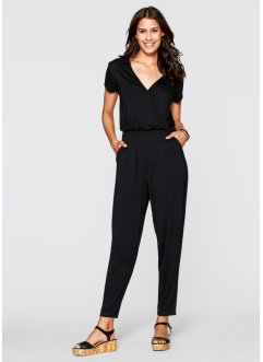 Jumpsuit, knöchellang, bpc bonprix collection, schwarz