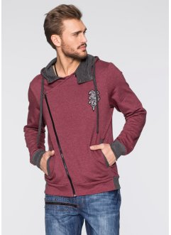 Sweatjacke Slim Fit, RAINBOW, bordeaux meliert