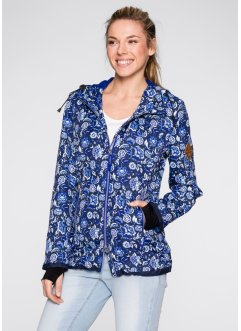 Outdoor-Jacke, bpc bonprix collection, blau gemustert