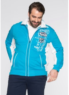 Sweatjacke, Regular Fit, bpc selection, türkis