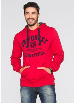 Sweatshirt mit Kapuze Regular Fit, John Baner JEANSWEAR, rot