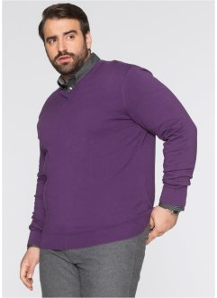V-Pullover Regular Fit, bpc selection, weinbeere