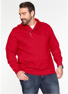 Sweatshirt m. Schalkragen Regular Fit, bpc selection, dunkelrot