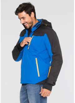 Funktions-Winterjacke Regular Fit, bpc bonprix collection, azurblau/schwarz