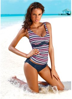 Tankini Oberteil, bpc bonprix collection, blau/rot gestreift