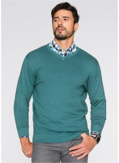 V-Pullover Regular Fit, bpc selection, petrol