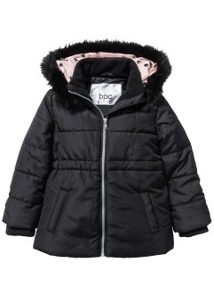 Wattierte Longjacke, bpc bonprix collection, schwarz