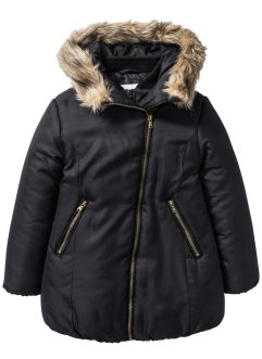 Longparka mit Kapuze, bpc bonprix collection, schwarz