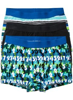 Boxershorts (3er-Pack), bpc bonprix collection, schwarz/blau/türkis