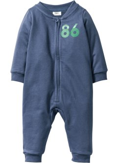 Baby Sweat Overall Bio-Baumwolle, bpc bonprix collection, indigo