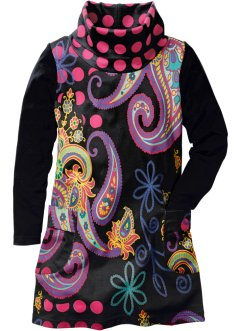 Kleid, bpc bonprix collection, schwarz allover