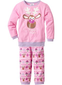 Pyjama (2-tlg. Set), bpc bonprix collection, rosa bedruckt