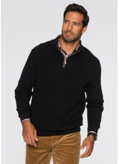 Troyer-Pullover Regular Fit, bpc selection, schwarz
