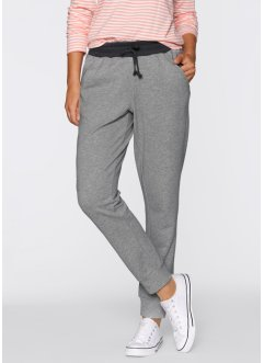 Sweat-Hose, bpc bonprix collection, hellgrau meliert