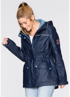 gummierte Outdoorjacke, 3 in 1, bpc bonprix collection, dunkelblau