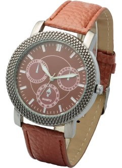 Herrenarmbanduhr, bpc bonprix collection, braun