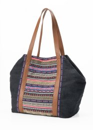 Canvas Shopper, bpc bonprix collection, grau