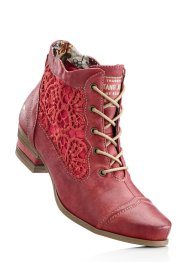 Stiefelette, Mustang, rot