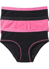 Hipster (3er-Pack), bpc bonprix collection, pink/schwarz