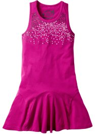 Kleid mit Pailletten, bpc bonprix collection, mittelfuchsia