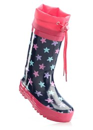 Gummistiefel, bpc bonprix collection, blau/pink