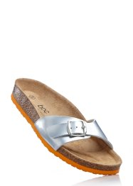 Pantolette, bpc bonprix collection, silber/orange