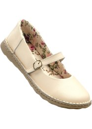 Lederballerina, bpc bonprix collection, beige