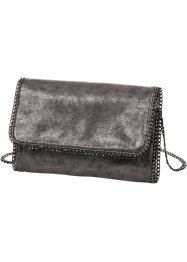 Clutch Metallic, bpc bonprix collection, silberfarben