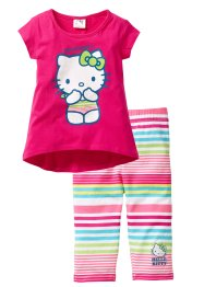 "Longshirt+7/8 Legging "" HELLO KITTY"" (2-tlg.), Hello Kitty, dunkelpink gestreift  Hello Kitty"